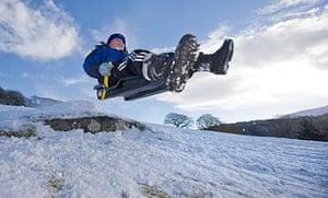 Snow in Capel Curig, North Wales