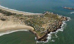 An aerial view of Cabo Polonio, Uruguay