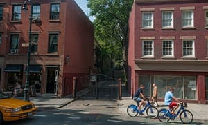 CitiBikers in Greenwich Village