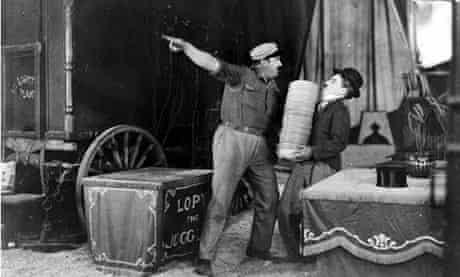 Charlie Chaplin in a scene from The Circus