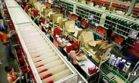 Packers at work at Amazon, Milton Keynes Milton Keynes