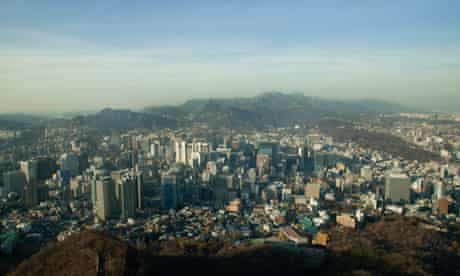 Seoul, South Korea shot from the air
