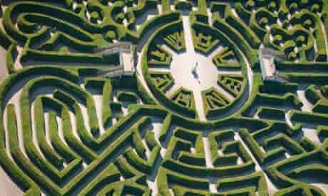 Marlborough Maze at Blenheim Palace, Oxfordshire, UK