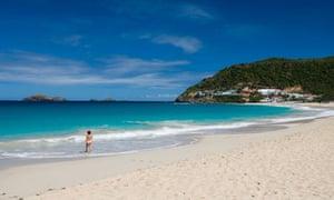 Flamands beach St Barts, Caribbean