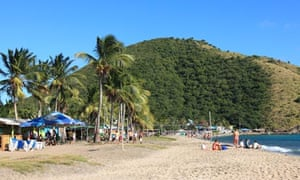 Timothy beach, Friaget Bay, St. Kitts, Caribbean