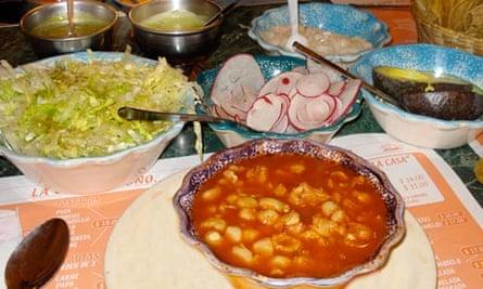 Pozole street food, Mexico City