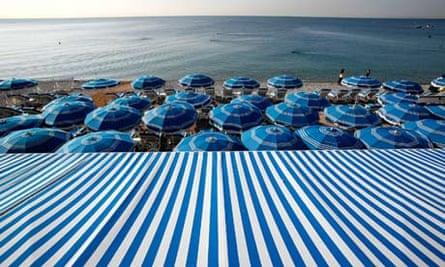 Beach scene, Nice, France