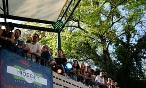 Crowd watching free SXSW event