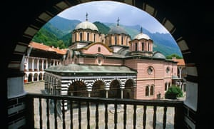 Rila Monastery courtyard, Bulgaria