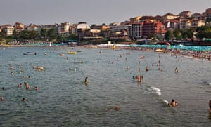 The beach, the Old Town, Sozopol,Bulgaria