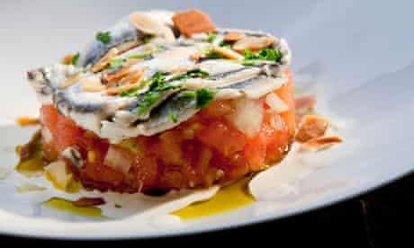 Tartare of tomato at restaurant Hidalgo 56, San Sebastian