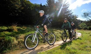 Cycling in Dalby Forest, North York Moors national park