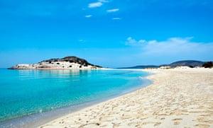 Simos beach on Elafonissos, Greece