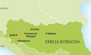 Italy map Emilia-Romagna
