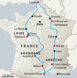 Map Of France For Children.France Road Trip That S Fun For All The Family Travel The Guardian