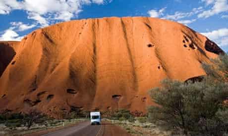Campervan by Uluru, Australia