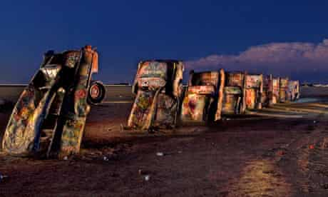 Cadillac Ranch west of Amarillo, Texas.