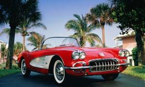 1960 red and white Chevrolet Corvette
