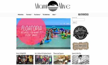 Miami Alive, Miami blog