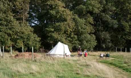secret campsite, east sussex