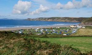 Newgale campsite, Pembrokeshire