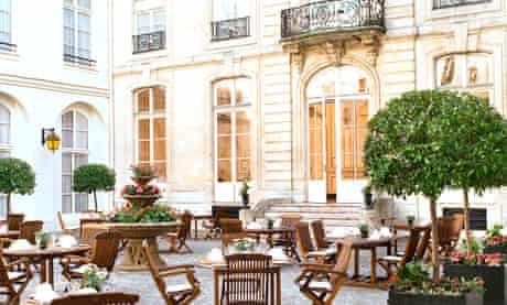 Courtyard of the Saint James Albany Hotel in Paris