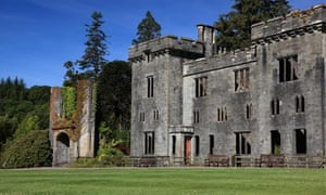 The ruined shell of Armadale castle, Clan Donald Skye