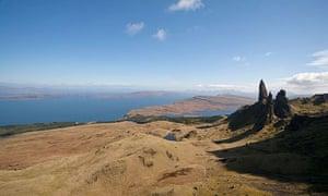 The old man of Storr, above Bearreraig Bay, Isle of Skye