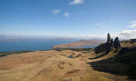 The old man of Storr, above Bearreraig Bay, Isle of Skye