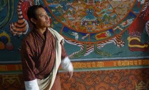 Rinzin Dorje at Paro dzong