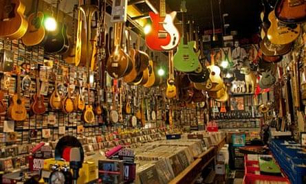 Music shop in North Beach, San Francisco, USA