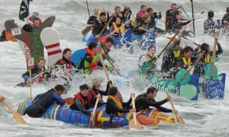 Portrush raft race, Northern Ireland