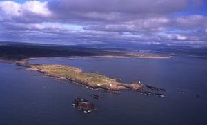 Llanddwyn Island aerial view