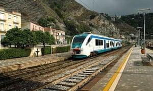 Train station at Giardini Naxos (Taormina)