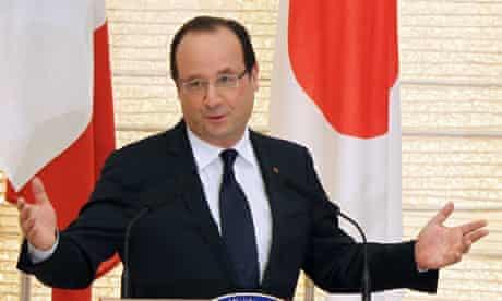 French President Francois Hollande in Japan