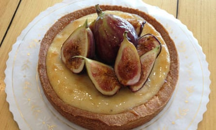 Fig and goat's cheese tart, Lucky's Bakehouse and Creamery