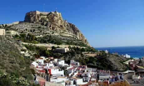 Mount Benacantil and the old town of Alicante