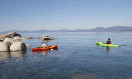 Kayaking on Lake Tahoe