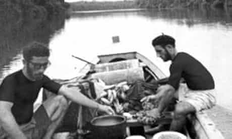 Omidvar brothers in a canoe