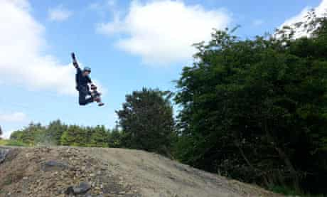 Mountainboarding at Marlborough Downs Mountain Boarding Centre