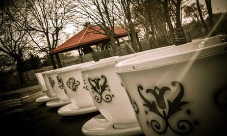Tea Cups ride at Pleasurewood Hills, Suffolk
