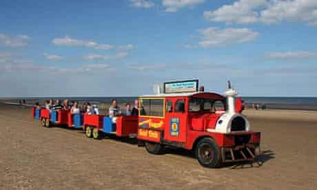 Sand train on Mablethorpe beach, Lincolnshire