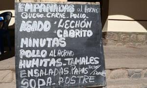 Food blackboard