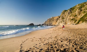 Praia da Adraga beach, Almocageme, Sintra, Portugal