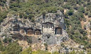 Lycian rock graves, Dalyan, Turkey
