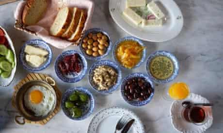 Turkish breakfast at Nişanyan Hotels, Şirince, Turkey