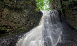 Hareshaw Linn waterfall, Bellingham, Northumberland national park