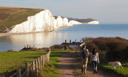 Seven Sisters cliffs and coastline viewed from Seaford Head