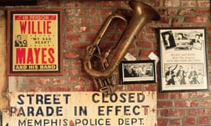 Horns, Posters and Signs on Display at Rum Boogie Cafe, Memphis, Tennessee