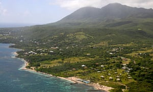 An aerial photograph of Mount Liamuiga in St Kitts.